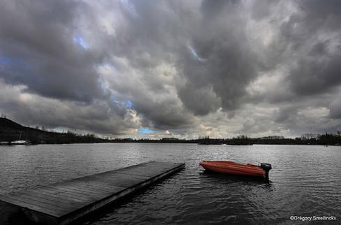 Après l'orage sur le lac