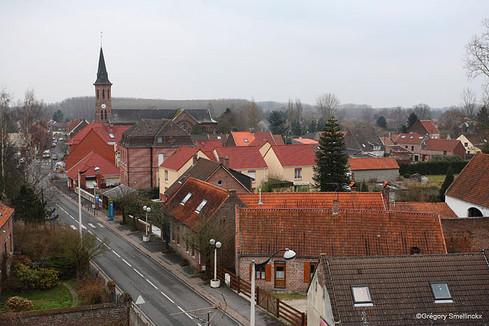 Le village vu d'en haut