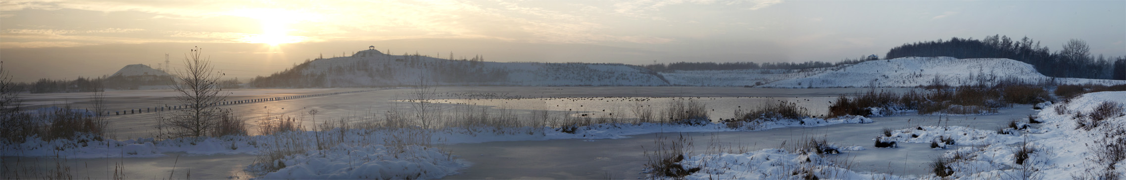 Panorama hiver lac Rieulay