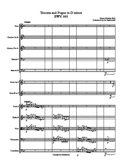 Bach: Toccata and Fugue in D minor for 12 players