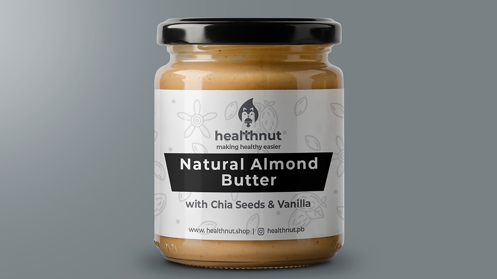 natural vanilla almond butter with chia seeds