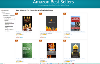 Paul Bryant's books on fire safety take 3 of the top 6 best selling slots on Amazon UK.