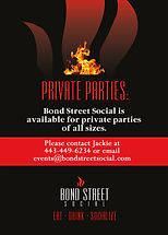 Private Parties at Bond Street Social