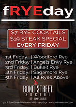 fRYEday Drink Special - $7 Friday Rye Cocktails