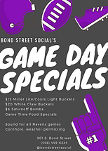 Game Day Specials - White Claw Buckets, Beer Buckets, Bombs