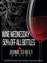 Wine Wednesday - Half off all bottles of wine