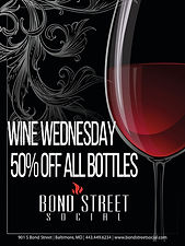 Wine Wednesday - Half off all bottles of wine