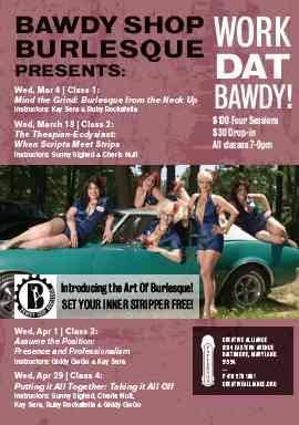 Work Dat Bawdy Burlesque classes