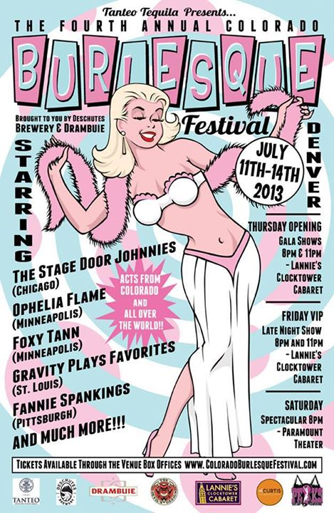 Colorado Burlesque Festival July 11 - 14th!