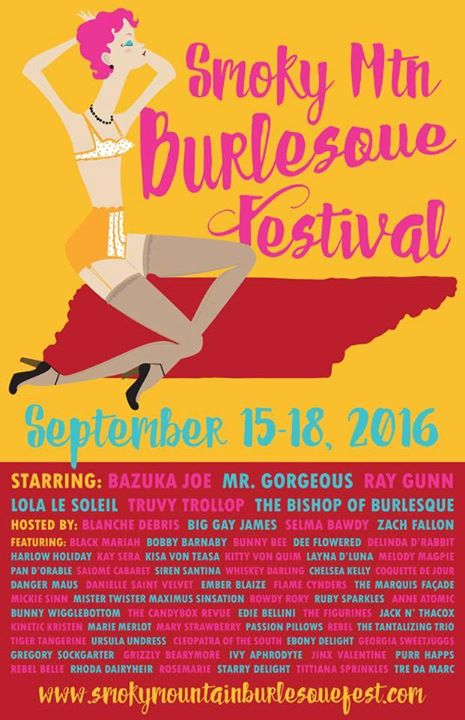 Kay Sera goes down south for the Smoky Mountain Burlesque Festival, appearing Sept 16 and Sept 17