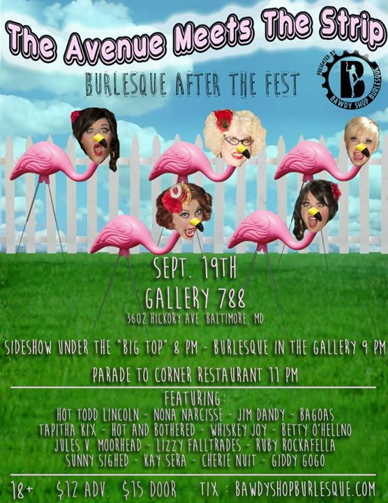 Burlesque, sideshow, variety AND a parade to the after party_!_ Don't miss The Avenue Meets The Stri