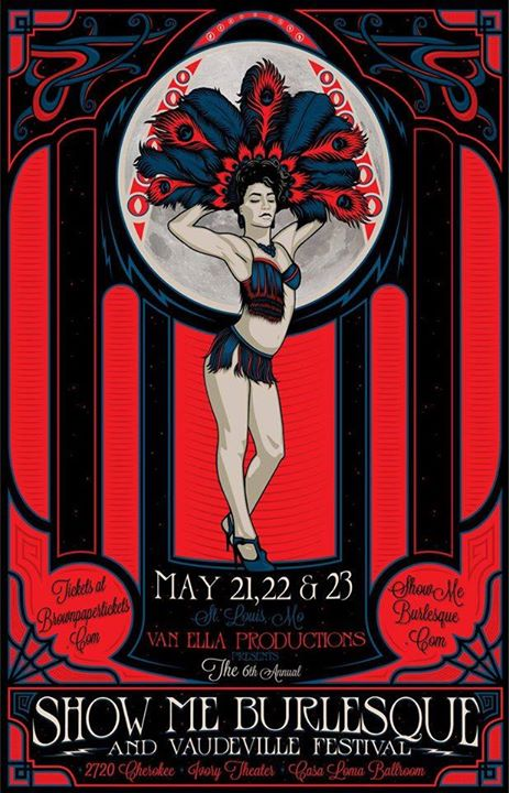 I'll join my Bawdy Shop Burlesque sister Chérie Nuit at next week's Show-Me Burlesque Festival!