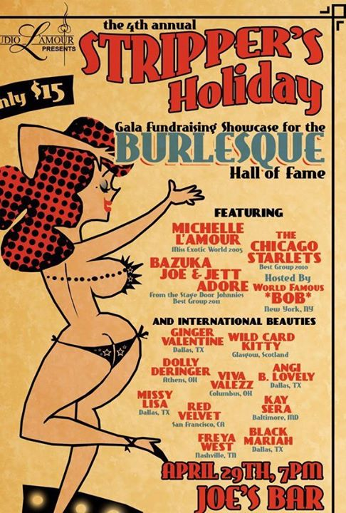 Stripper's Holiday--a BHoF fundraiser!