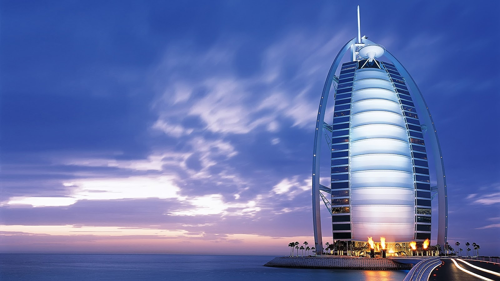 The Burj Al Arab is a hotel located