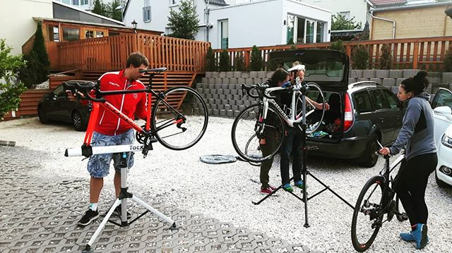 Last preparation to tomorows Rad-Bundesliga 2018 Frauen Juniorinnen Ilsfeld-Auenstein