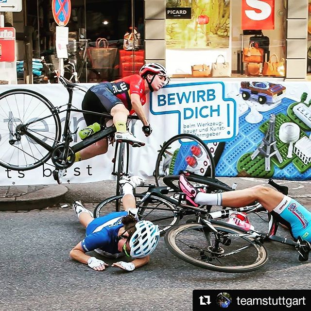 Crashing is part of cycling as crying is