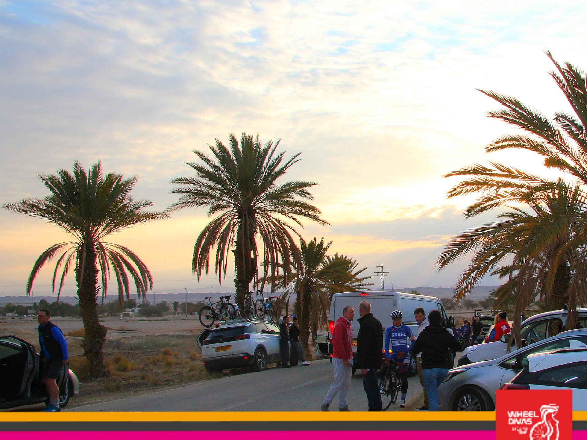 Sonnenaufgang in Wüste Negev