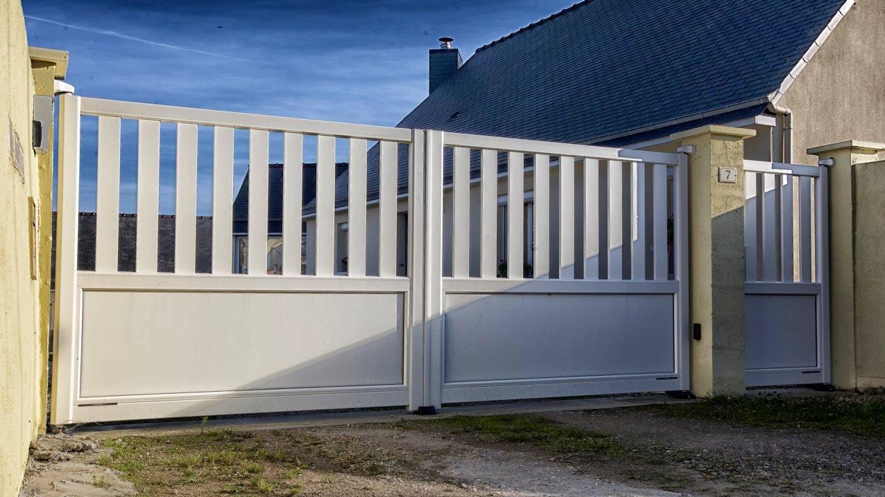 portail aluminium blanc gamme sweet home