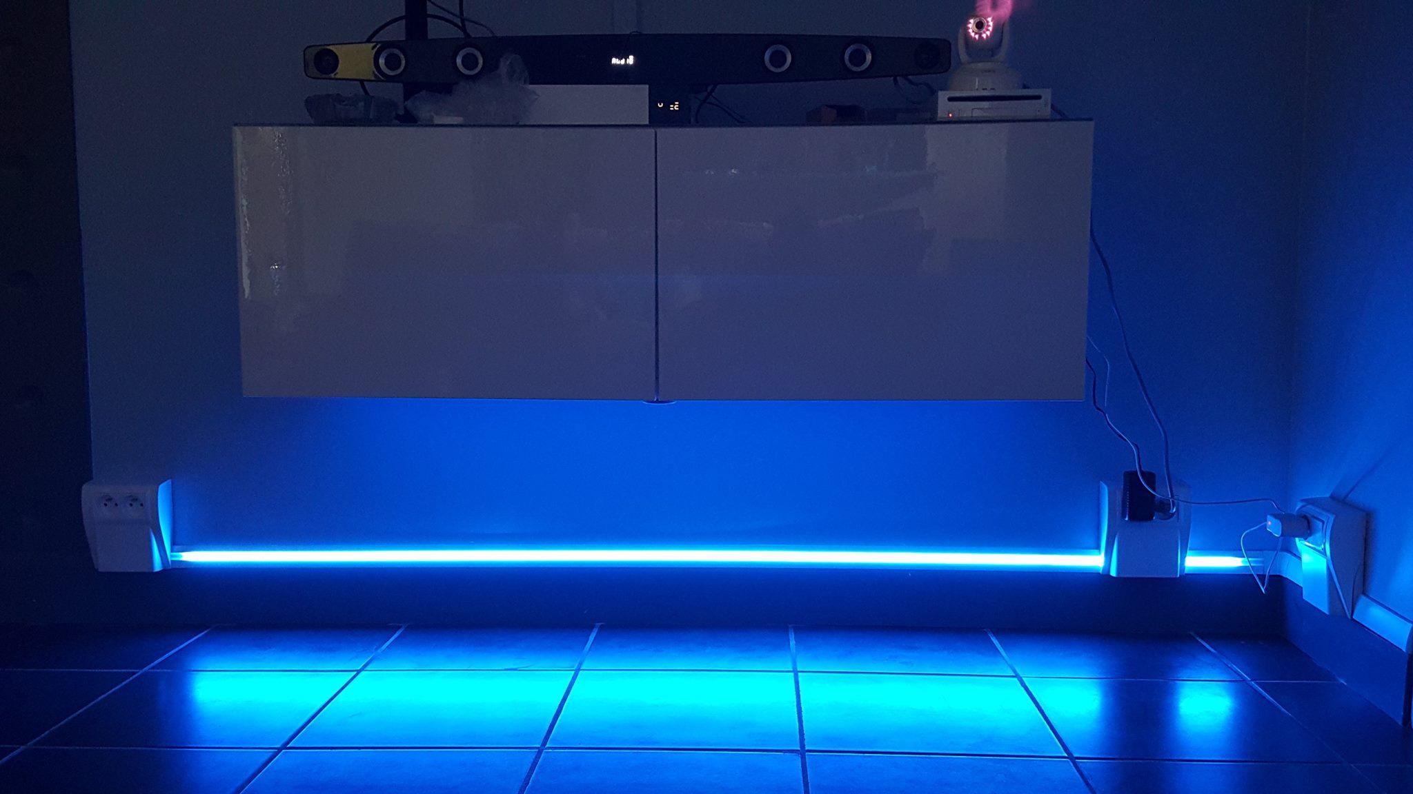 plinthes avec éclairage led intégré