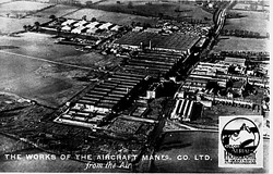 Stag_Lane_from_the_air