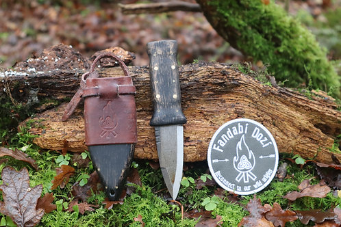 (5) Dark Oak, Large Brass and Circle Pins, Survival Sgian Dubh