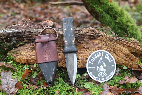 (6) Dark Oak, Large Brass and Circle Pins, Survival Sgian Dubh