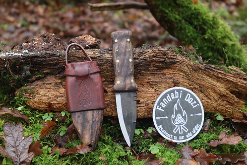 (8) Dark Oak, Large Brass Pins, Survival Sgian Dubh