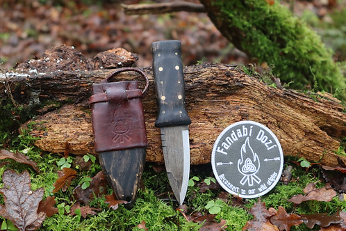 (4) Dark Oak, Large Brass and Circle Pins, Survival Sgian Dubh