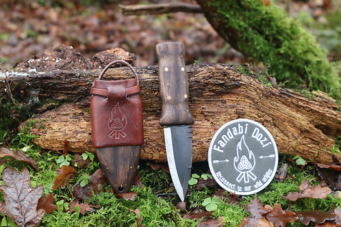 (3) Dark Oak, Large Brass and Circle Pins, Survival Sgian Dubh