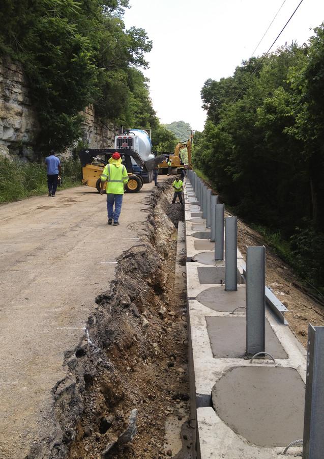 River Trace Rock Slide Repair