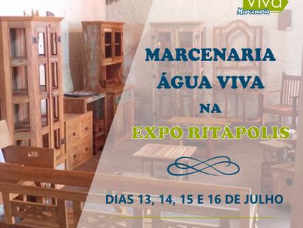 Marcenaria Água Viva expõe móveis na Expo Ritápolis