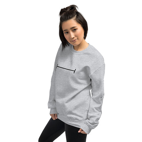 TAKE UP SPACE icon sweatshirt - grey