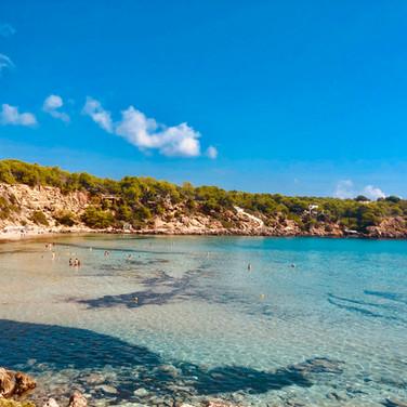 Beautiful northern Ibiza beaches