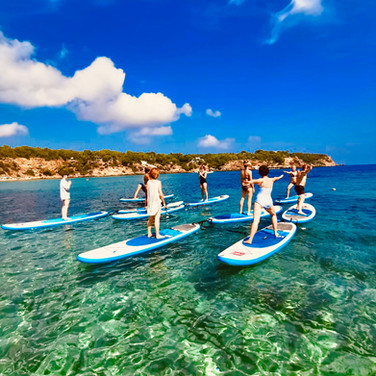 Stand Up Paddle Board Yoga in paradise