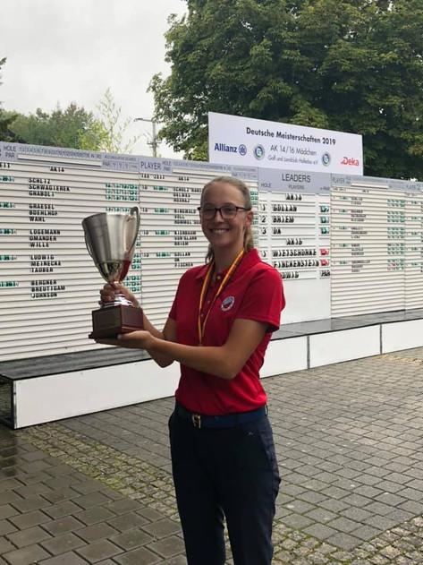Philipa Gollan gewinnt die Deutsche Meisterschaft AK 14 2019