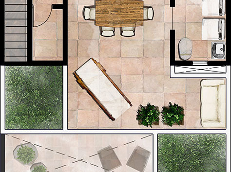 Rooftop terrace layout