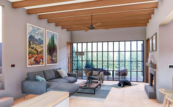 Casa Alborada living room