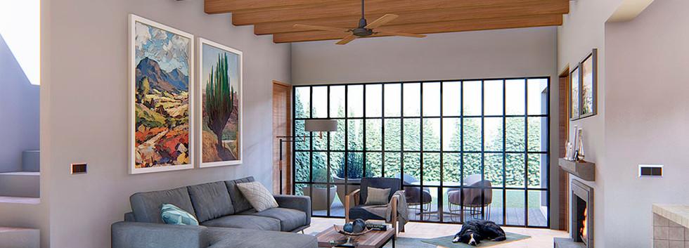 Casa Aurora living room