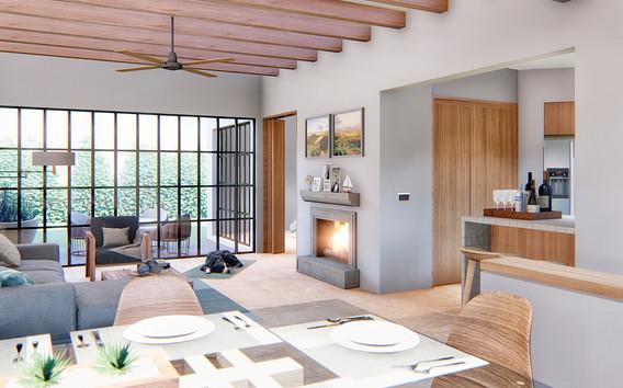 Casa Aurora living room/dining room