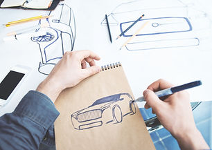 Industiral ontwerpschets Car