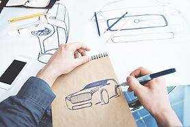 Industiralデザインカースケッチ