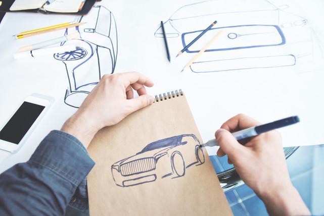 Industiral Diseño Bosquejo de coches