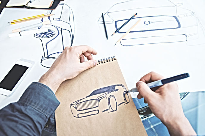 Industiral Car Design Sketch