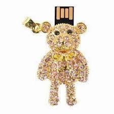 8GB Gold Bear Flash Drive