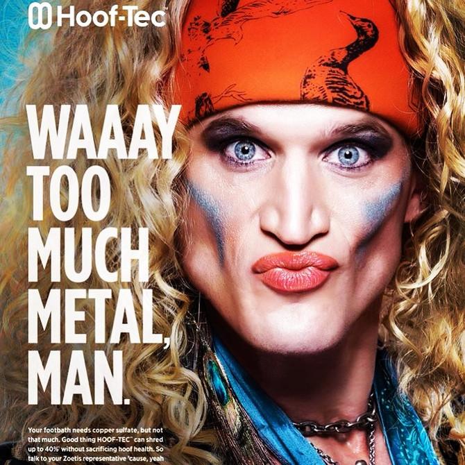 Congrats Andy booking the HOOF-TEC Ad