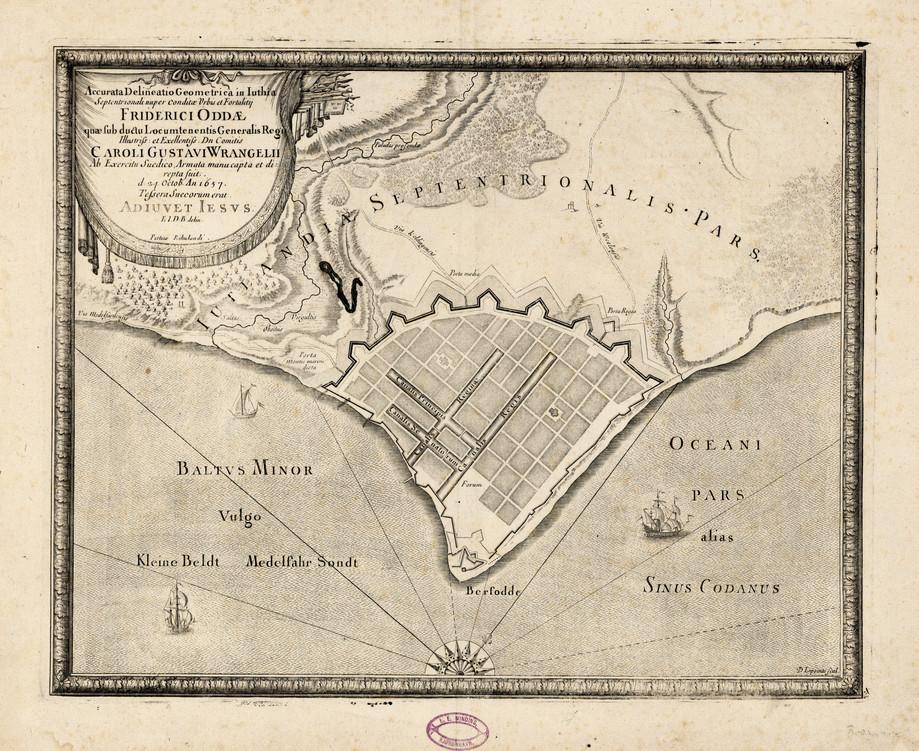 Fredericia en 1657