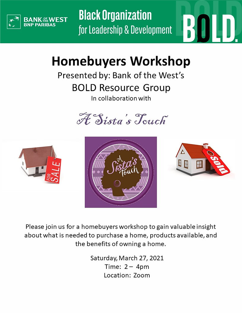 3.27. 21 A Sista's Touch Homebuyer Works