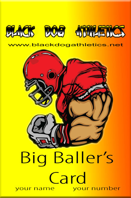 BIG BALLER'S CARD (football)