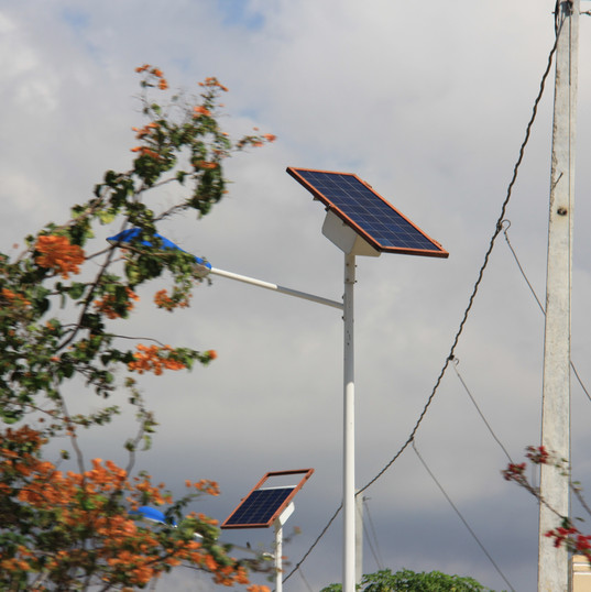 Solar Panels in Place