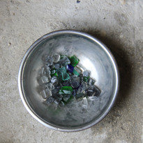 Glass Ready to be Turned into a Gem